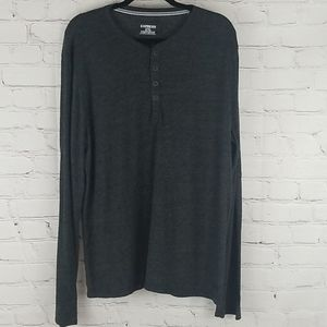 Express Henley  gray long sleeve shirt size XL